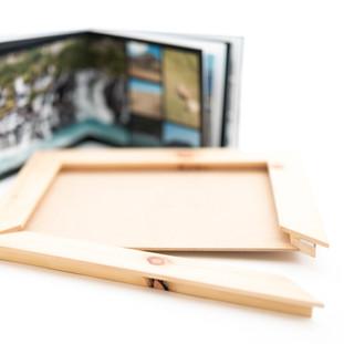Holzrahmen für Fotoalbum