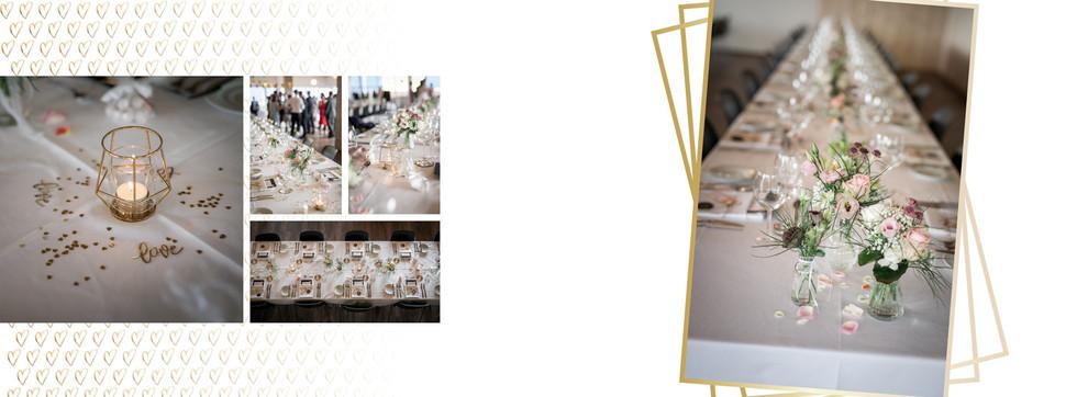 Beispiel Hochzeitsalbum mit Herzdesign