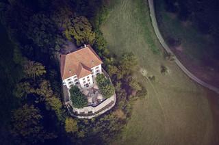Luftaufnahme Schloss Rued