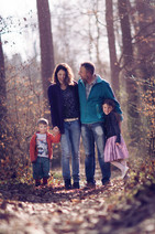 Familienfotoshooting im Wald