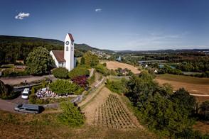Kirche Luftaufnahme