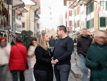 Fotoshooting in der Altstadt Zofingen