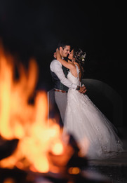 Hochzeit bei Feuerschein