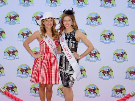Miss Chicago & Miss Chicago's Outstanding Teen attend Arlington Park's Derby Day!