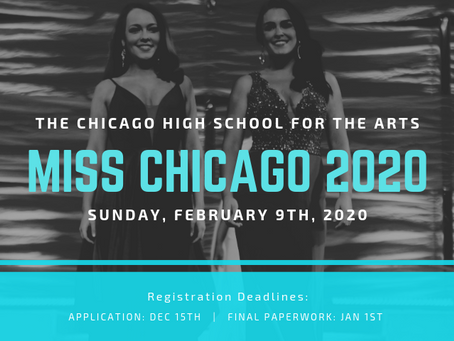 Now Taking Applications for Miss Chicago 2020