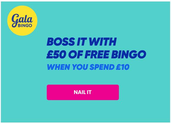 Free £50 of Bingo when you spend £10