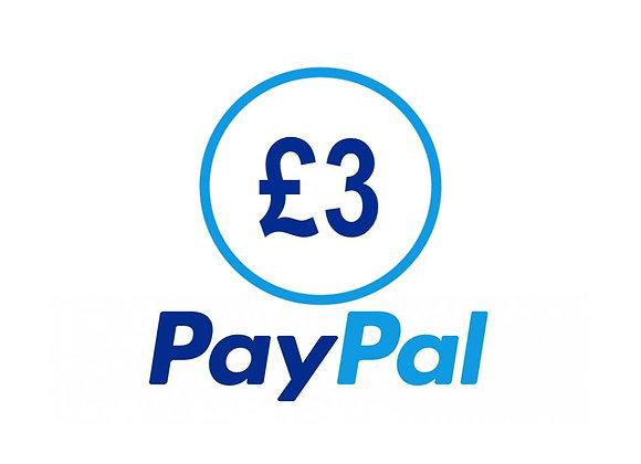 Free £3 PayPal