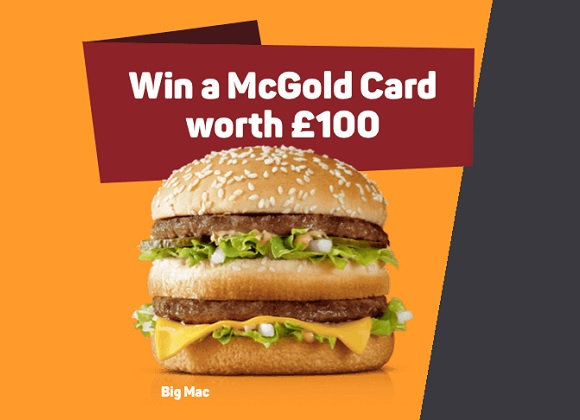 Win £100 McDonalds Gift Card