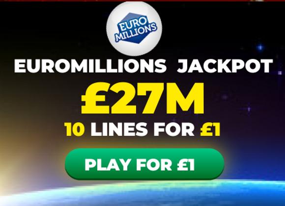 Free EuroMillions Tickets In Tonight's Massive Jackpot