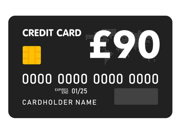 £90 prepaid MasterCard®