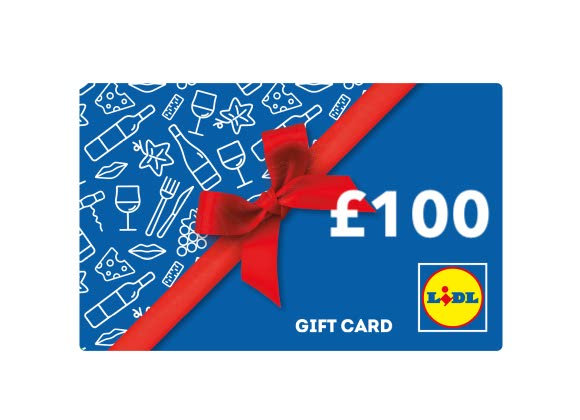 Free Lidl £100 Gift Card