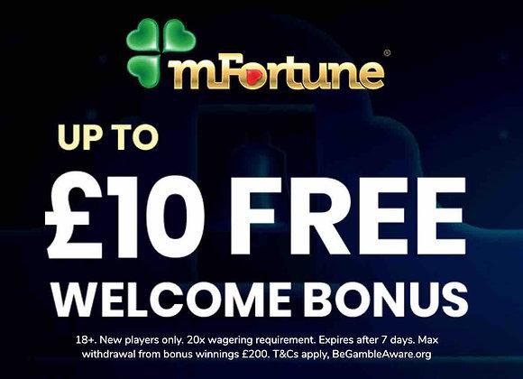 Mfortune Bingo - £10 Bonus