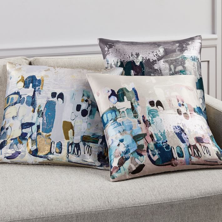 west elm water color pillows