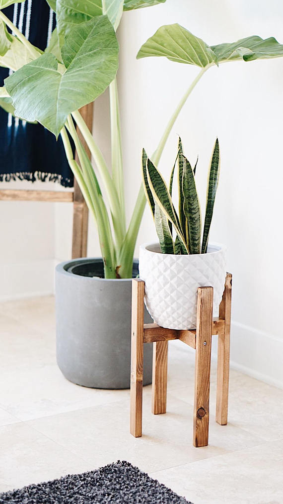 etsy plant stand west elm look