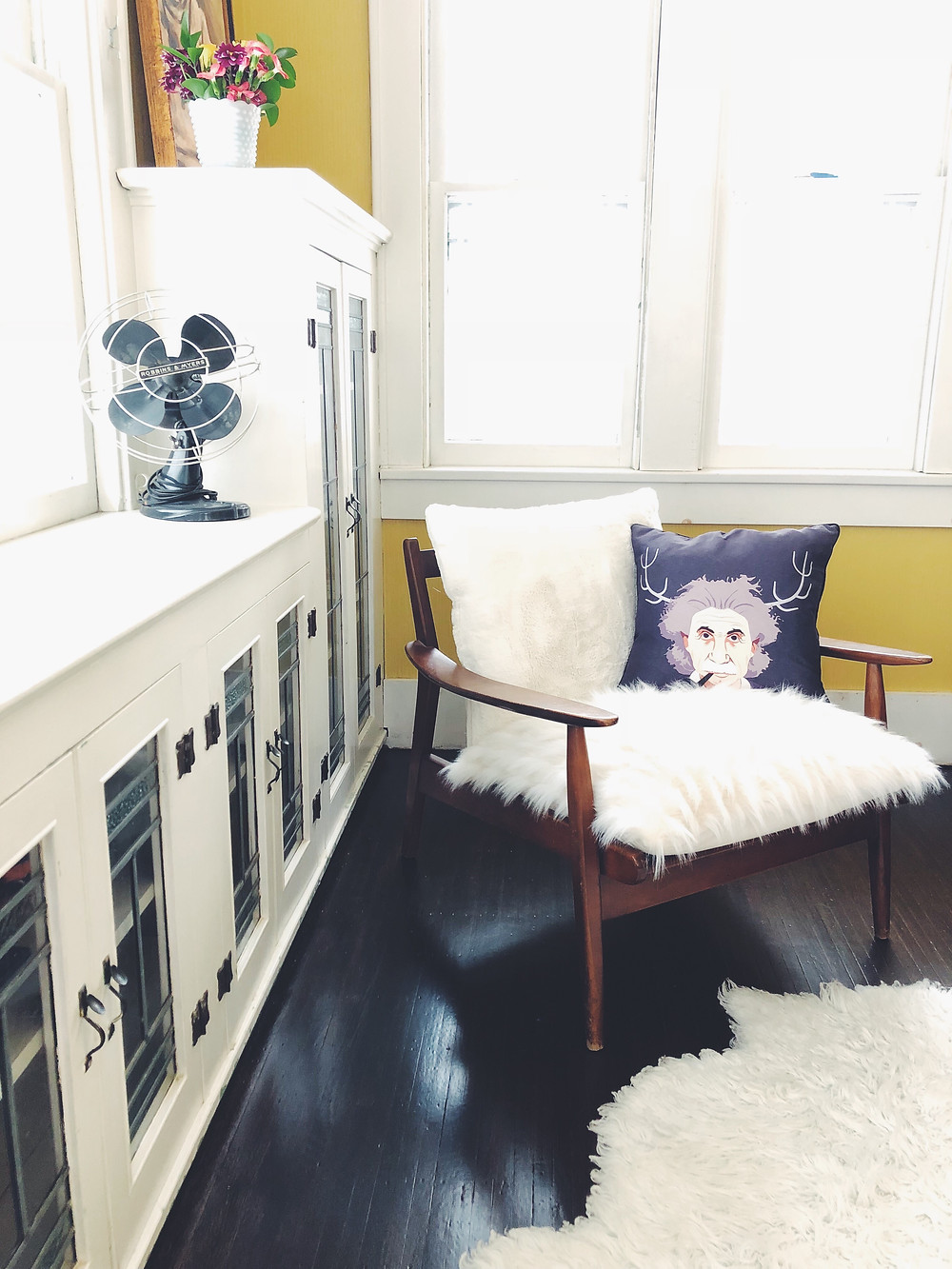 flea market find mod chair west elm style