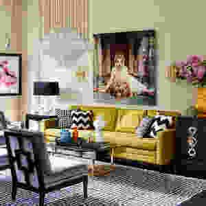 Living room decor mix patterns