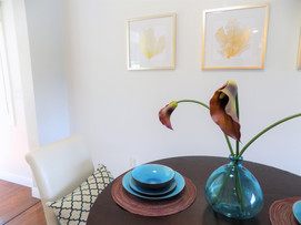 dining room house sold home staging