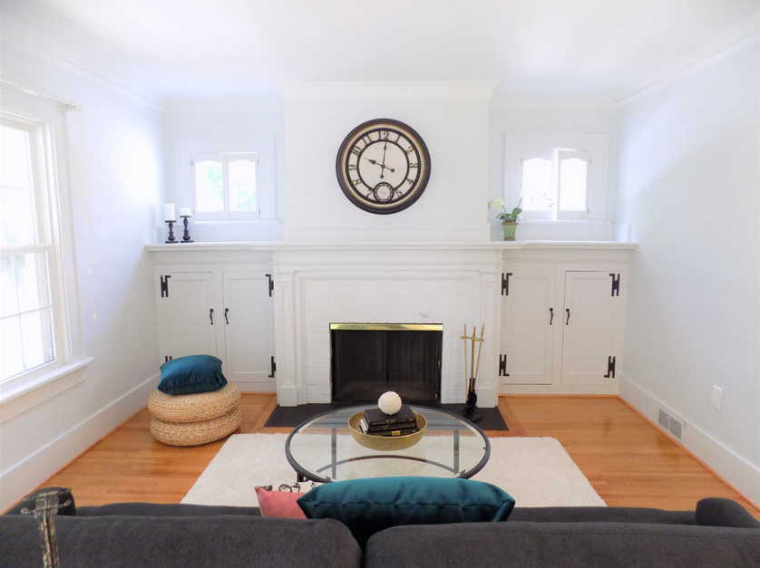 staged living room rochester ny set the stage