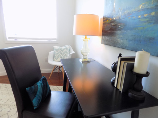 home office home staging house sold