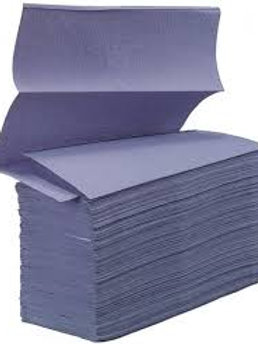 ESSENTIALS HAND TOWELS Z-FOLD BLUE - CASE/3000