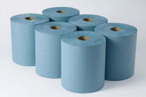 HAND TOWEL SYSTEM ROLL - BLUE. CASE/6 x 180mtr ROLLS.