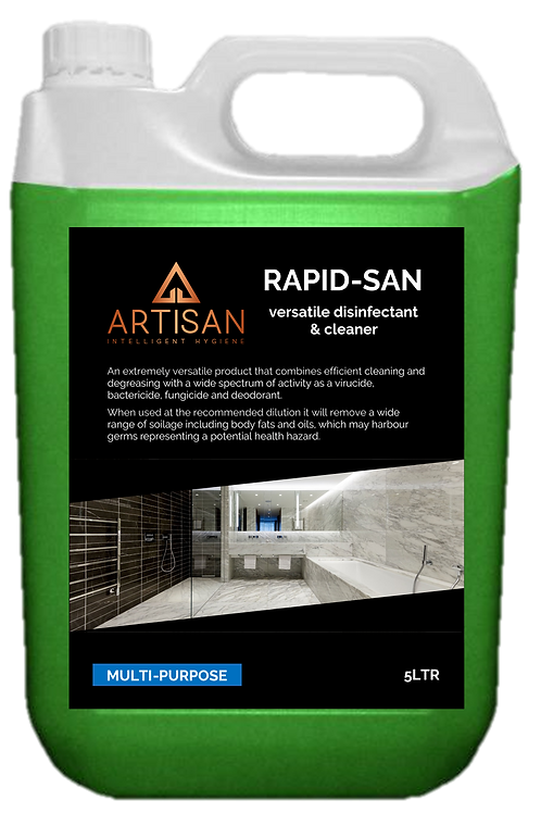 RAPID-SAN VERSATILE DISINFECTANT CLEANER - 5LTR
