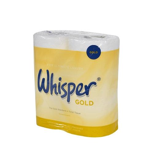 WHISPER GOLD LUXURY 3 PLY TOILET ROLLS - CASE/40 ROLLS