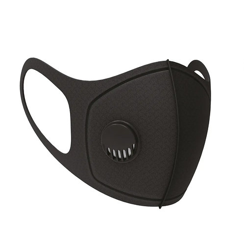 REUSABLE PROTECTIVE FACE MASK WITH FILTER - BLACK