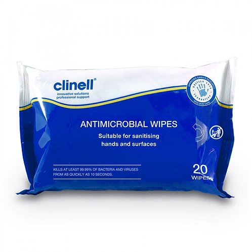 CLINELL ANTIMICROBIAL WET WIPES
