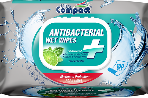 COMPACT ANTIBACTERIAL WET WIPES