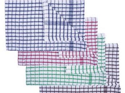 TERRY TEA TOWEL - 45x68cm ASSORTED COLOURS. PACK/10.