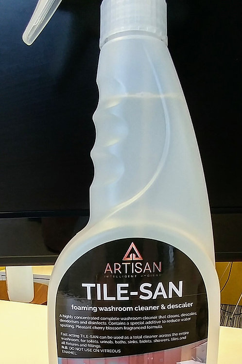 TILE-SAN FOAMING WASHROOM CLEANER - 750ml CASE/6 TRIGGER SPRAYERS