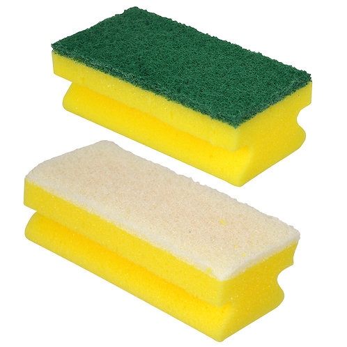 FINGER GRIP SPONGE SCOURER - PACK/10.