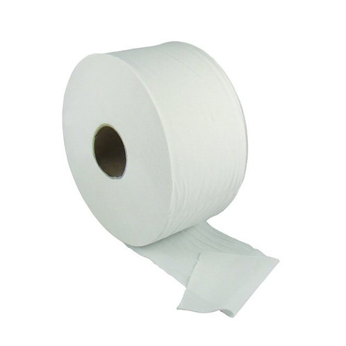 MINI JUMBO TOILET ROLLS 2 PLY WHITE - CASE/12 x 150mtr Rolls