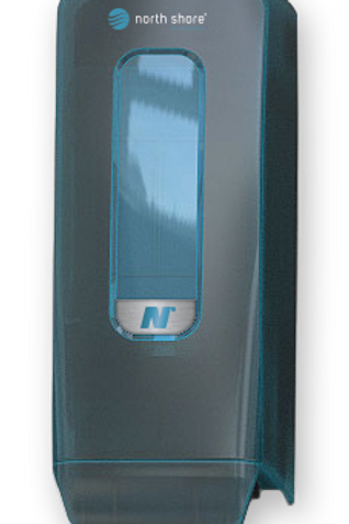 NORTH SHORE PUSH-BUTTON FOAM SOAP CARTRIDGE SYSTEM DISPENSER - OCEAN BLUE