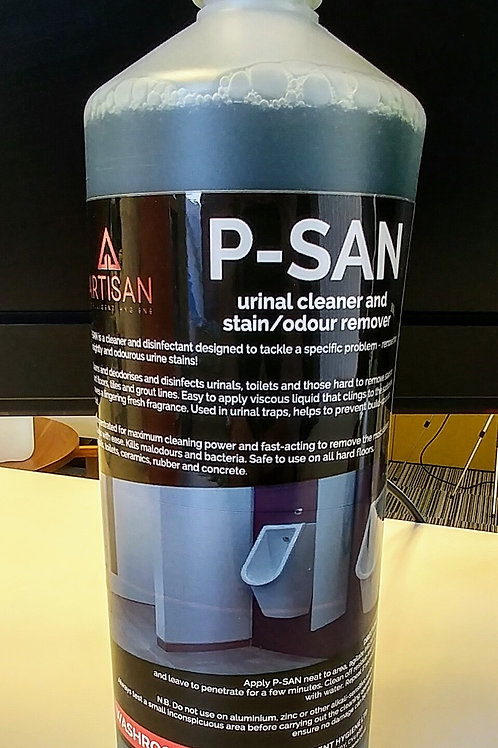 P-SAN DEODORISING URINAL CLEANER & STAIN REMOVER - 1LTR CASE/12