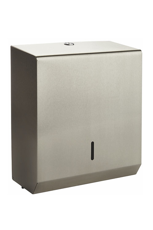 STAINLESS STEEL LARGE TOWEL DISPENSER