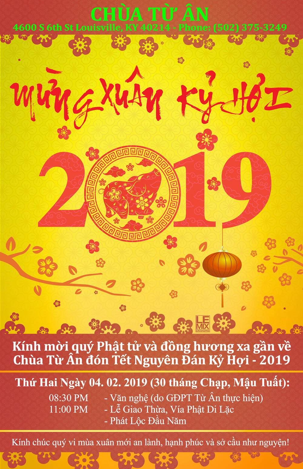 Tu An Temple Tet 2019