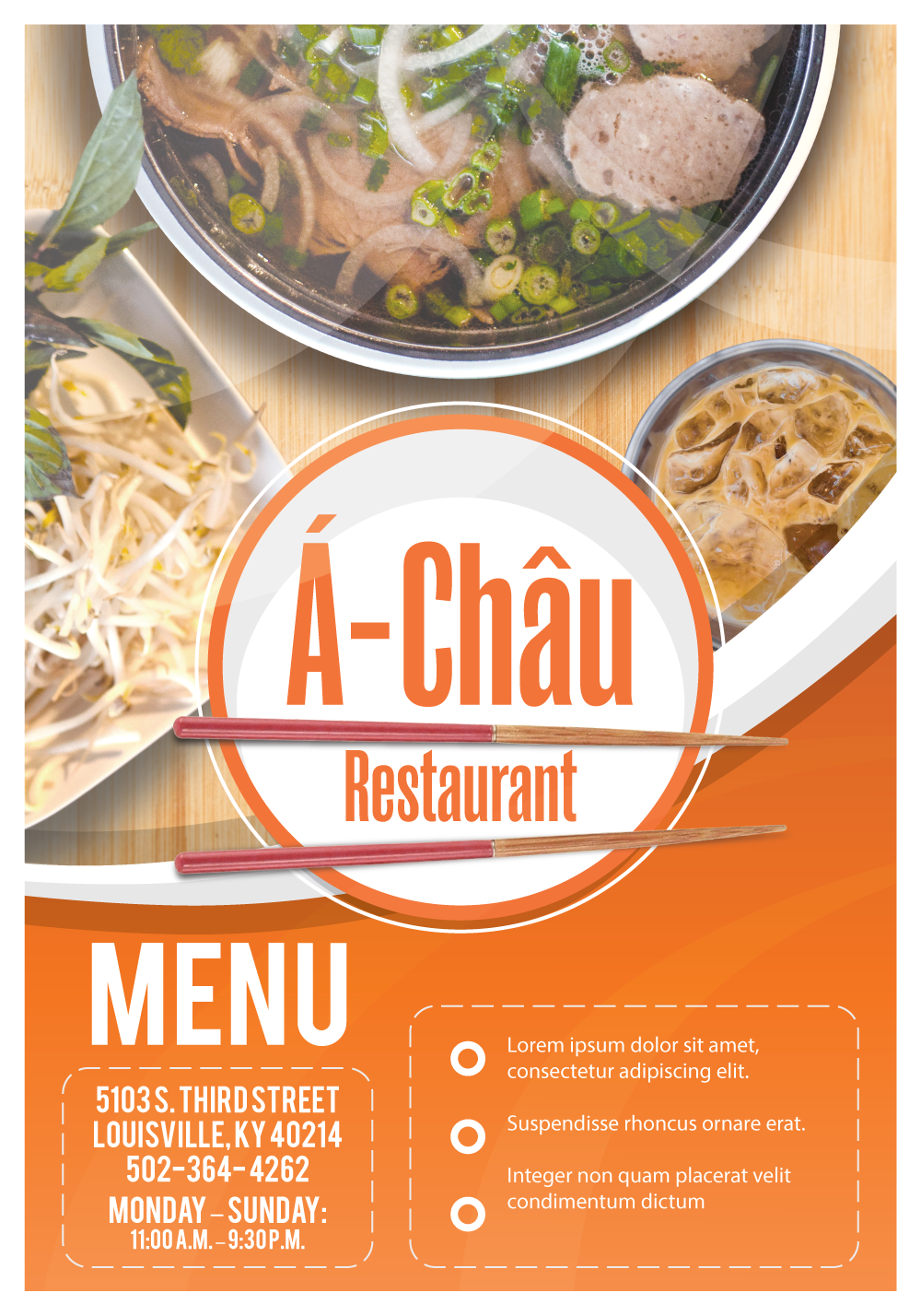 A Chau Menu Orange