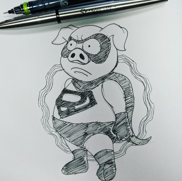Day 9 - Unlike Hero - Super Bacon
