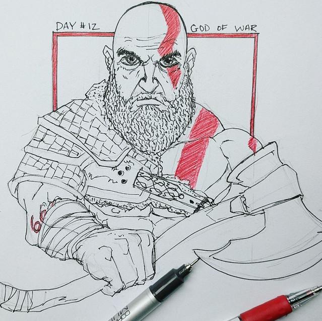 Day 12 - A God - Kratos