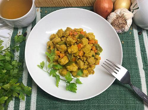 Caril de Soja com Legumes