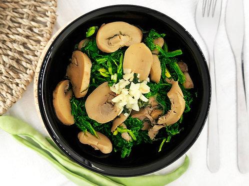 Espinafres e Cogumelos