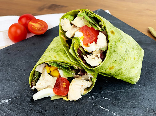 Chicken Wrap with Egg and Tomato