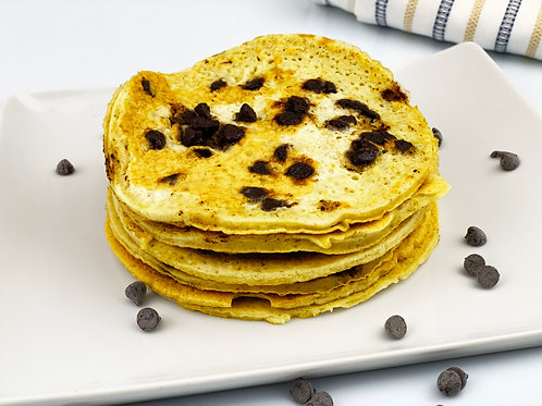 Pancakes (whites and oats) with chocolate chips