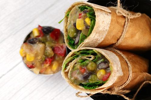 Wrap Vegetariano com Tortilha integral