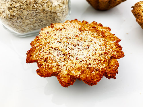Carrot, coconut and honey muffin