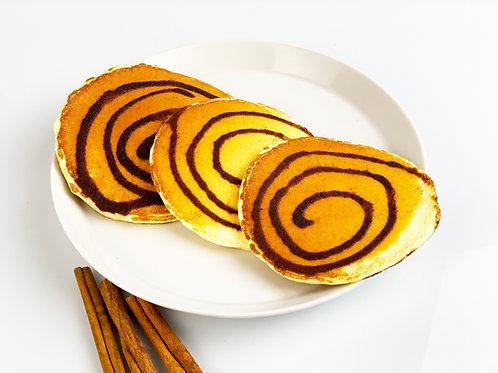 Panquecas proteícas de canela (cinnamon bun)