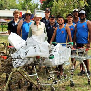 Dumped shopping trolleys retrieved
