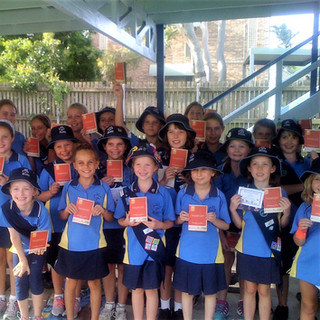 Keppel Coast Girl Guides with their Passports